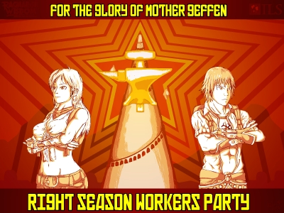 Right Season Workers Party Wallpaper